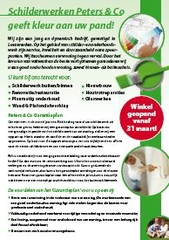 Flyer Schilderwerken Peters & Co.
